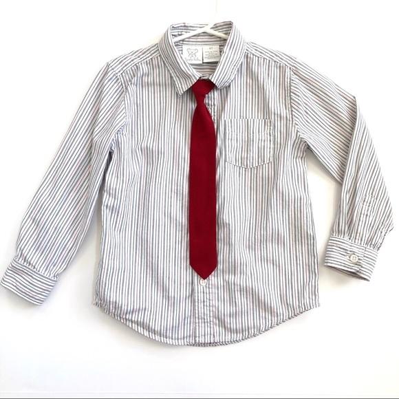 Koala Kids Shirts Tops Toddler Boy Dress Shirt With Velcro Tie